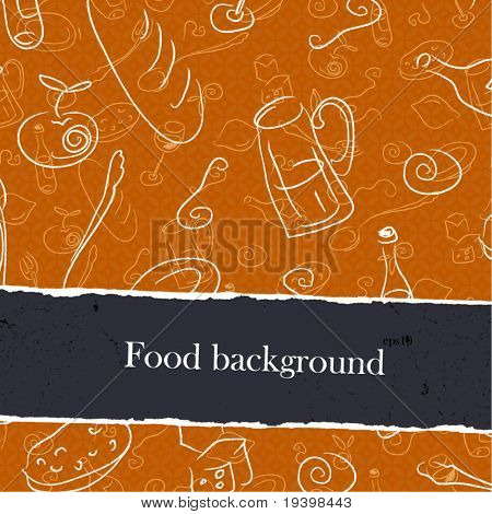 Food backgrounds set with copyspace. Easy editable by layers, eps10.