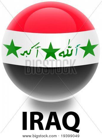Kugel-Irak-Flag