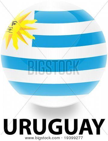 Flag Uruguay Orb