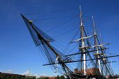 stock photo of uss constitution  - The USS Constitution - JPG