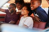 Family Relaxing In Car During Road Trip poster