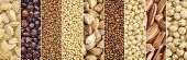 gluten free grains collection (brown rice, quinoa, teff, amaranth, buckwheat, kaniwa,millet, sorghum poster