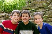 Three Boys In The Outdoors poster