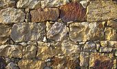 pic of fieldstone-wall  - stone wall more colorful randomize stones good texture - JPG