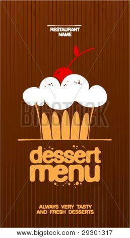 Dessert Menu Card Design template.