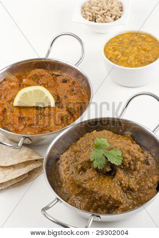 Chicken Xacuti & Meat Madras