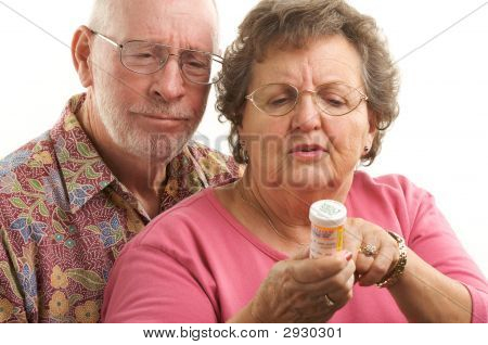 Senior Couple With Perscription Bottle