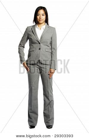 Asian Business Woman Serious And Confident Looking At Camera
