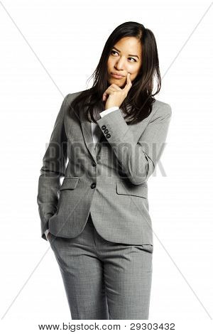 Asian Business Woman In Pensive State