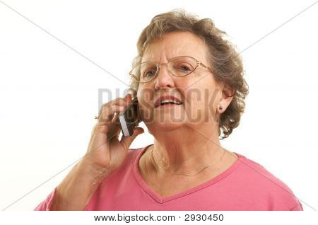 Senior Woman Using Cell Phone
