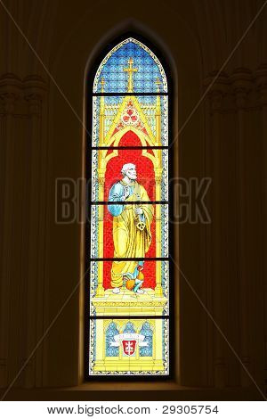 Stained Glass Depicting St. Peter