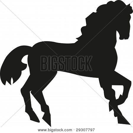 silueta de un caballo