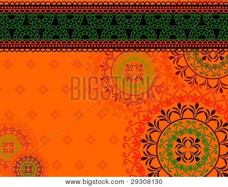 Henna Mandala Background
