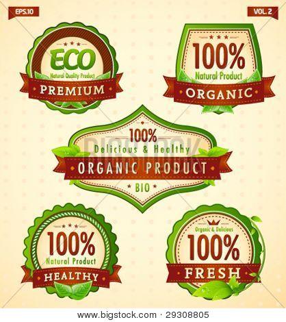 Green eco bio label collection vol. 2