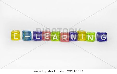 Text Ce-learning On Colorful Wooden Cubes