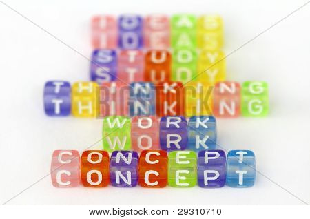 Text Concept On Colorful Cubes
