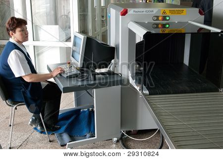 Baggage Scanning At Airport