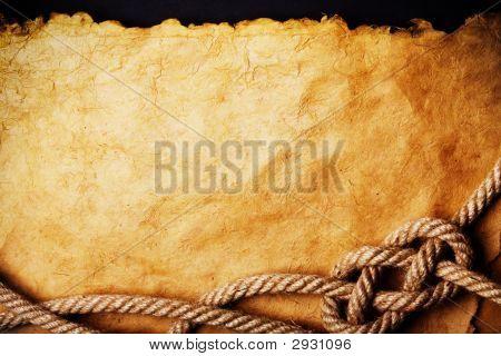 Cuerda de papel viejo