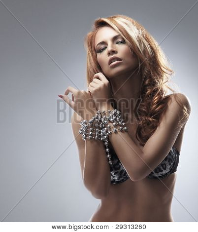 Fashion shoot of young sexy woman