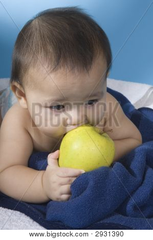 Sweet Baby With Apple