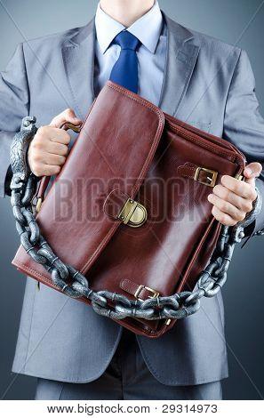 verhaftet Geschäftsmann in Kriminalität Konzept