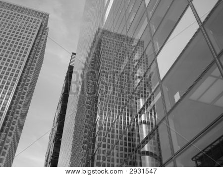 Black And White Glass Buildings