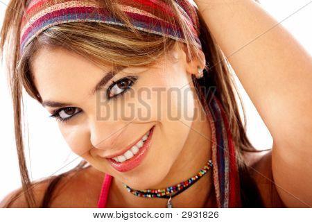 Casual Woman Portrait Smiling