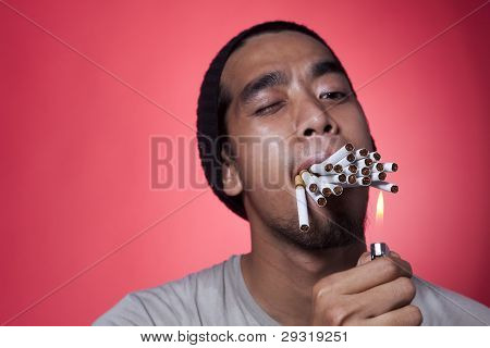 Smoker Burn Cigarettes