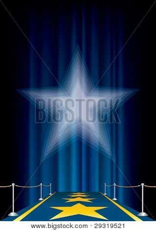 vector entertainment background with blue carpet