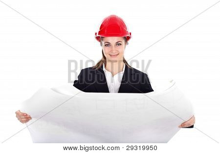 Engineer With Blueprints