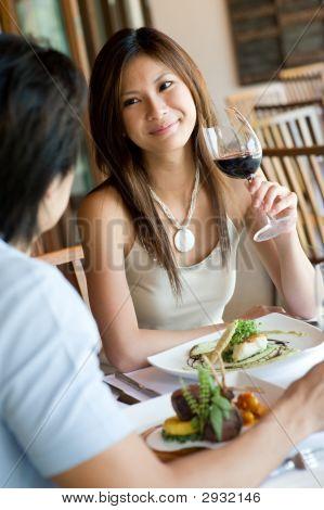 Having Dinner