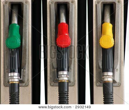 Set Of Gas Pump Nozzles