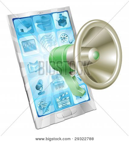 Megaphone Icon Phone Concept
