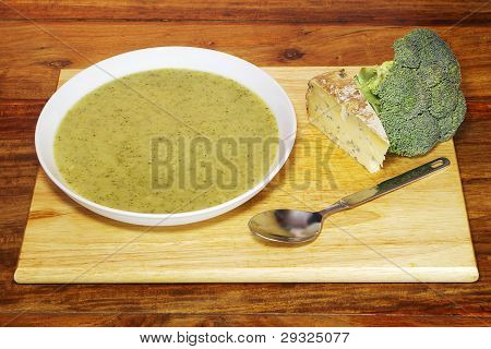 Home-made Broccoli and Stilton Soup