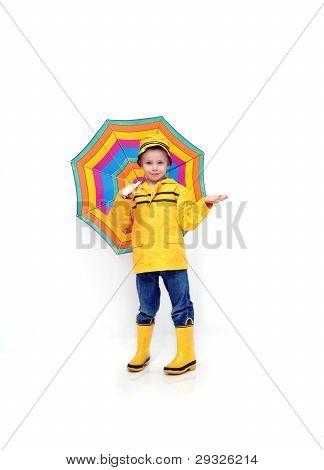 Beneath A Striped Umbrella