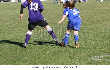 Youth Soccer Players In Action