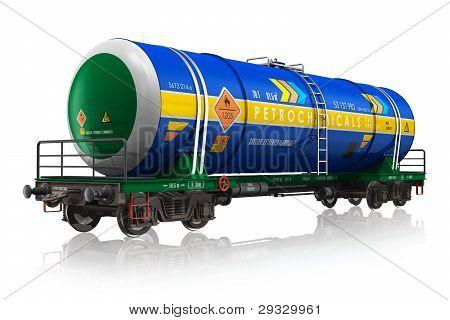 Gasoline railroad tank car