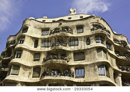 La Pedrera, Also Called Casa Mila, Barcelona, Spain.