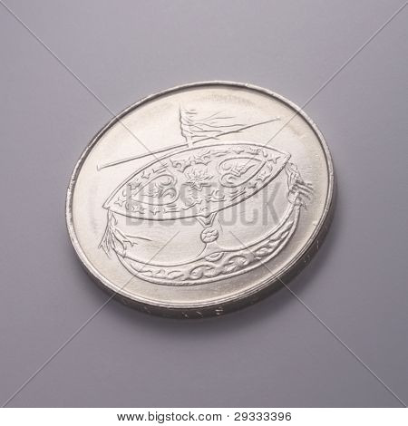 close up of the malaysia coin