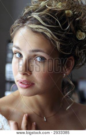 Schöne lächelnd Braut