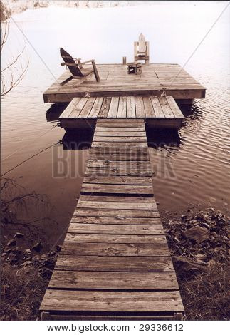 Fishing dock, Sugar Valley Lake, KS.