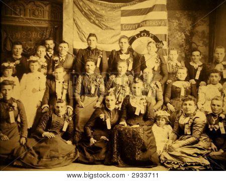 Vintage Family Photo 1878