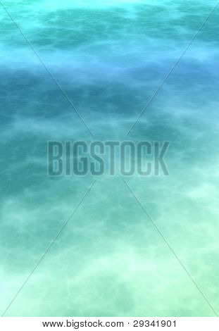 Abstract soft atmospheric cerulean blue background. Atmosphere of a another planet type background.3D render.