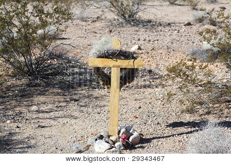Impromptu Shrine, Highway 40, Arizona