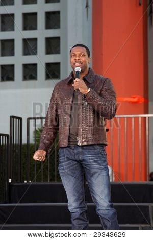 LOS ANGELES - JAN 26:  Chris Tucker performs at the Michael Jackson Immortalized  Handprint and Footprint Ceremony at Graumans Chinese Theater on January 26, 2012 in Los Angeles, CA