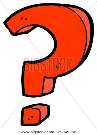 cartoon question mark sign (raster version)