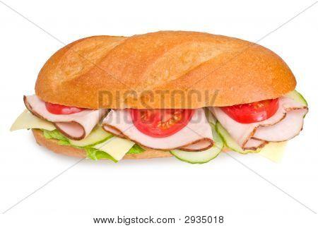 Fresh Turkey Submarine Sandwich Wich Swiss Cheese