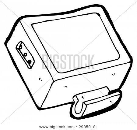 tv monitor cartoon (raster version)