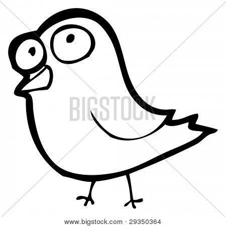 funny little bird cartoon