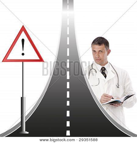 The raised traumatism on road